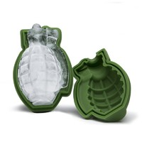 high quality 3D Grenade Ice Cube Mold  Grenade Silicone Ice Mold wholesale