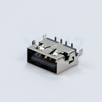 USB  female sink DIP foot without crimping USB broken board connector