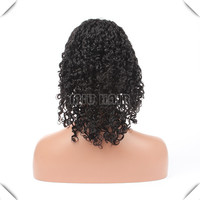 100% human hair full lace wigs, Brazilian virgin hair can wear high ponytails