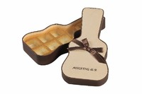 more images of Ribbon Decorated Guitar Shape Paper Chocolate Gift Box and Food Packaging