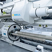 PE transparent ultra-thin film extrusion line