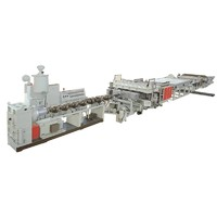 PP PC PE hollow lattice plastic extrusion machine