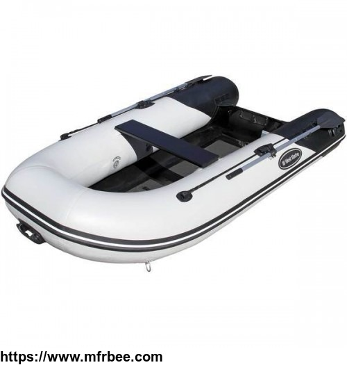 RIB-310 Aluminum Hull Inflatable Boat, Black, Length: 10'2""