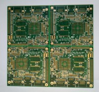 Gold Multi-layer Printed Circuits Board (PCB) with board thickness 63 mil for industrial Solution