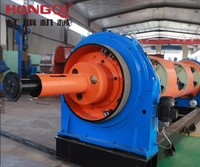 New design red and yellow tubular steel cable wire twisting stranding machine