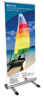 Wave Lite Double-Sided Retractable Outdoor Banner Stand | Trade Show Displays