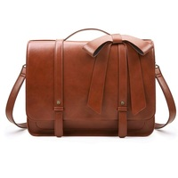 Ladies Briefcase PU Leather Laptop Backpack Shoulder Satchel Crossbody Bag