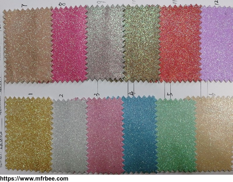 Highly Welcomed Shining Glitter PU Leather for Fashionable Shoes