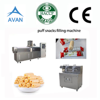 Core filling snacks making machine line