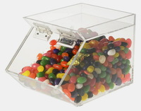 acrylic storage for food candy snack cookie case box