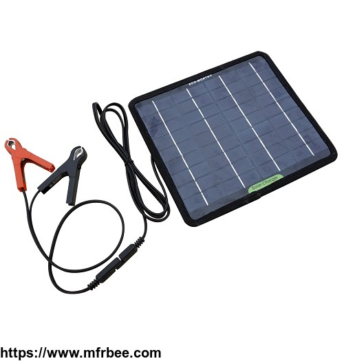 ECO-WORTHY 5W 18V Solar Panel Kit for RV Car Motorcycle Battery Trickle Charger