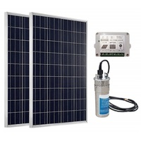 ECO-WORTHY 24V Solar Panel Deep Water Well Pump S/Steel Submersible Pump 20A Controller New