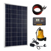 more images of ECO-WORTHY 12V Solar Powered Water Pump 100W PV Solar panel + 20A Controller for Watering