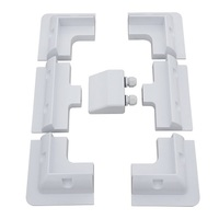 ECO-WORTHY Solar Panel 4 Corner Bracket + 2 Side Bracket + Double Cable Entry Gland (Solar Panel Mounting Bracket Kit)