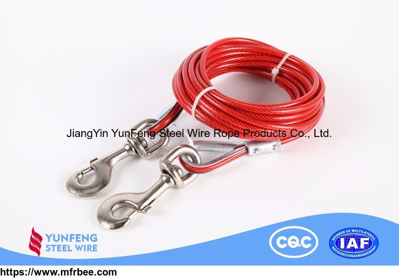 Hot-dip Galvanized Coated with Black/White/Red/Blue/Yellow Nylon High Carbon  Steel Wire Rope for Aviation