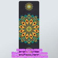 Hot Selling New Design Printing Fitness Sports Yoga Mat From Power Sky Clothing Manufacturers