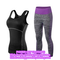 Ladies Fitness Gym Suit Women Printed Yoga Clothing Set