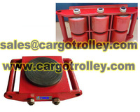 Moving roller skates carry heavy machine