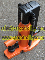 Hydraulic toe jack operate instruction