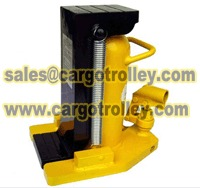 Hydraulic toe jack lift heavy machine