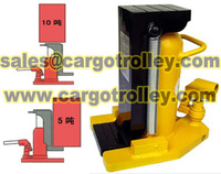 Lifting moving jack factory price