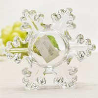 Glass tealight Snowflake shape candle holder for Christmas decorations