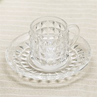 factory wholesale glass coffee and tea cup with tray