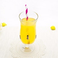 new! cuate design goblet for kids decal glass juice water cup with short stem