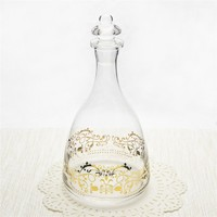 Luxuriant hand made red wine glass bottle