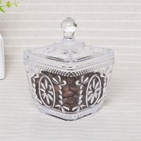 more images of wholesale glass clear candy jars/ candy storage with lid