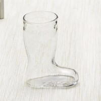 new cute gifts of shoe shape beer glass/glass beer boot/glass beer mug