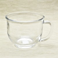 factory wholesale glass coffee and tea cup with handle