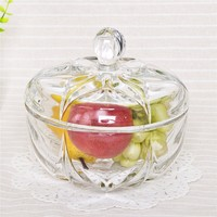 more images of Pumpkin shaped clear glass candy jar