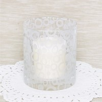 more images of Clear High Quality Candle Glass Cup with decals