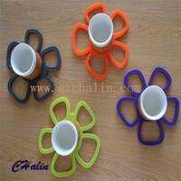 Hot Sale Shaped FDA/LFGB Silicone Hot Pot Mat