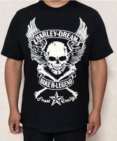 harley skull motorcycles shorts sleeve men's t-shirts,20FM-99866