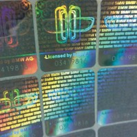 3D Custom Adhesive Hologram Sticker Label with security feature