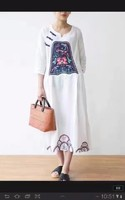 more images of Chinese Buttons Vintage Embroidered Dress Plus Size Elegant Dress