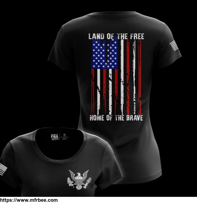 Land of the Free Women's USA T-Shirt | Tactical Pro Supply