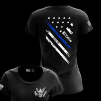 Buy Blue Line Flag Crest Tees for Women at Tactical Pro Supply