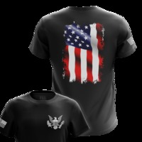 Waving Flag Mens Military T-Shirts | Tactical Pro Supply