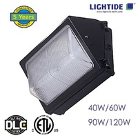 DLC Premium Semi Cut-off LED Wall Pack Lights-Glass Refractor 90W