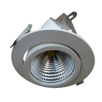 "6"" Gimbal LED Downlights, 30W CREE COB LED/ 3000 lm, Replace 300W halogen lamp, 3-year Warranty"