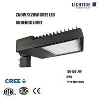 DLC premium CREE LED Parking Lot Lights  320w with 7 yrs warrranty