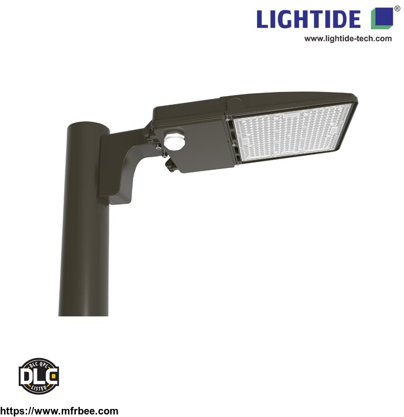 lightide_dlc_qualified_dusk_to_dawn_led_parking_lot_light_fixtures_150w_lumileds_with_5_yrs_warranty