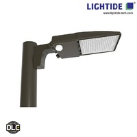 Lightide DLC Qualified Dusk to Dawn LED Parking Lot Light Fixtures 150W Lumileds with 5 yrs warranty