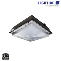 DLC Premium 12x12 60W LED Canopy Lights with motion sensor and 5 yrs warranty