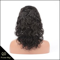 Chinese virgin hair loose curl lace front wigs