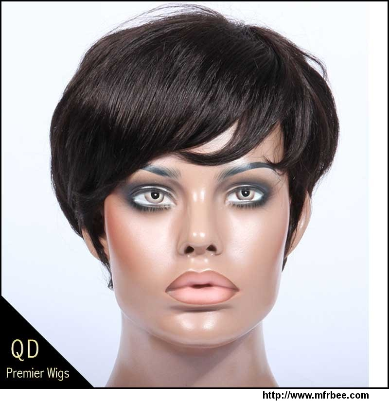 _rihanna_style_short_bob_indian_remy_hair_machine_made_wigs
