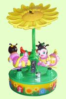 Amusement Park Kids Indoor Small Carousel Rides 3 Seats Mini Carousel For Sale